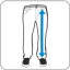 Długość nogawki mierzona od pasa